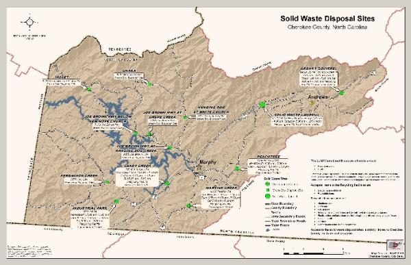 Map of Solid Waste Convenience Centers